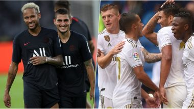 PSG vs Real Madrid, UEFA Champions League Live Streaming Online: Where to Watch CL 2019–20 Group Stage Match Live Telecast on TV & Free Football Score Updates in Indian Time?