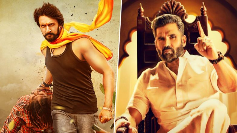 Pailwaan Quick Movie Review: Kichcha Sudeep and Suniel Shetty's Action Flick Ends on a Sooryavansham Note in the First Half!