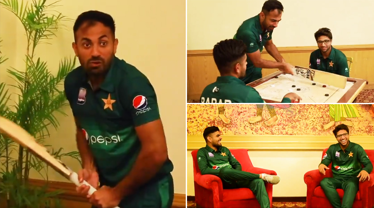 Pakistan Cricketers Enjoy a Fun Session Ahead of the 1st ODI Against Sri Lanka in Karachi (Watch Video)