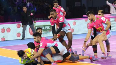 PKL 2019 Match Results: Pink Panthers' Encounter Against Gujarat Fortune Giants Ends in Thrilling Tie, UP Yoddha Beat Tamil Thalaivas