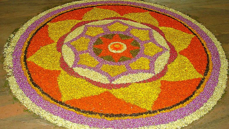 Athapookalam Designs for Onam 2019: Kerala Govt Organises Floral Rangoli Decoration Competition for the Harvest Festival
