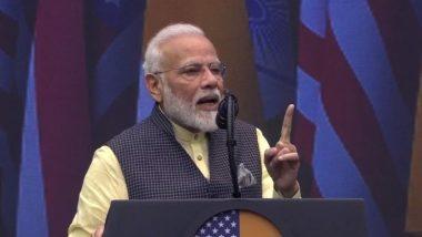 'Howdy, Modi!': PM Modi Defends Article 370 Takedown, Jabs Pakistan, Says 'Donald Trump Firmly Backs India's Fight Against Terrorism'