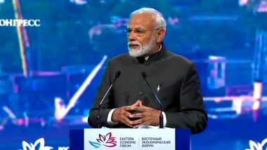 PM Narendra Modi Announces Credit of $1 Billion for Development of Far East Asia, Says 'This Will Give a New Dimension to Our Economic Diplomacy'