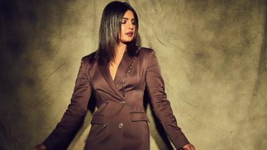 Yo or Hell No? Priyanka Chopra Jonas in Brown Blazer Dress From Versace and Louboutin Pumps