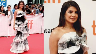 TIFF 2019: Priyanka Chopra Jonas Slays In a Marchesa Frilled Gown for The Sky Is Pink Premiere! View Pics