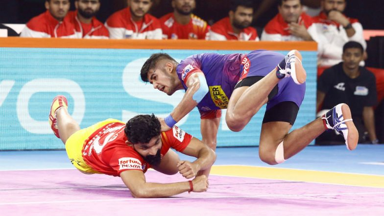 PKL 2019 Results: Dabang Delhi Beat Gujarat Fortunegiants 34–30 at Shree Shiv Chhatrapati Sports Complex