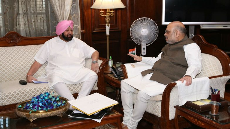 Amit Shah Meets Punjab CM Amarinder Singh on Issue of Abducted Sikh Girl in Pakistan