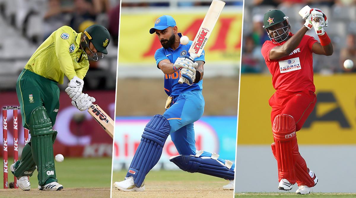 Cricket Week Recap: Virat Kohli and Quinton De Kock's Match-Winning Knocks and Hamilton Masakadza's Perfect Goodbye, A Look at Finest Individual Performances