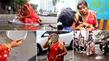 RJ Malishka is Going Viral Yet Again With Another Song 'Dekho Chand Aaya' on BMC and Potholes on Mumbai Roads (Watch Video)