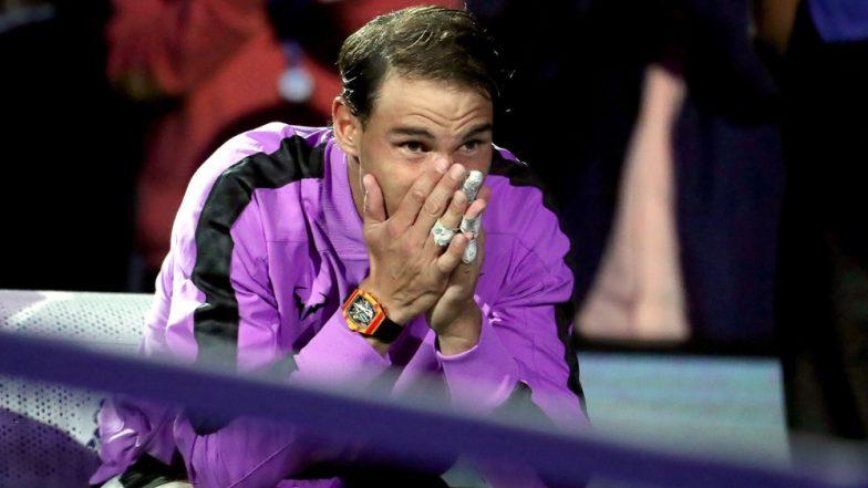 Rafael Nadal's tears flow during film of his 19 grand slam victories