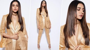 Rakul Preet Singh's Golden Pantsuit Is Not For The Fashion Mediocre
