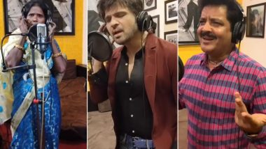 Internet Sensation Ranu Mondal Croons a New Song for Himesh Reshammiya Along With Udit Narayan on Lata Mageshkar's Birthday