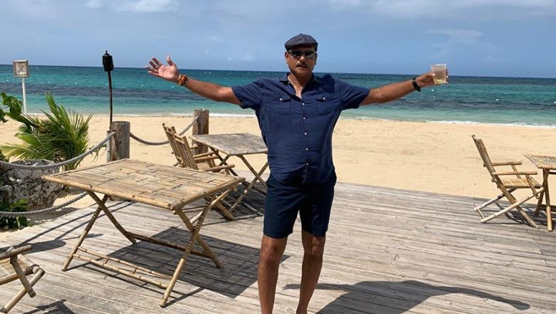 Ravi Shastri Trolled By Netizens For Holding a Glass of Drink in Latest Social Media Post, Check Out Funny Memes and Mean Tweets!