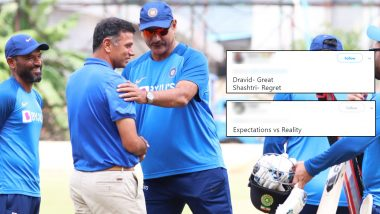 BCCI Shares Ravi Shastri and Rahul Dravid's Photo, Twitterati Mercilessly Troll Them for Calling Team India Head Coach 'Great'