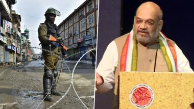 Amit Shah Justifies Restrictions in Jammu and Kashmir Post Article 370 Abrogation, Says 'Time Has Come That Correct History is Written'