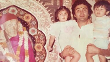 Rishi Kapoor Birthday: Adorable Throwback Pics of the Bollywood Actor That Will Melt Your Heart