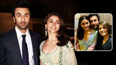 Alia Bhatt and Ranbir Kapoor Get Romantic and Comfy in Front of Neetu Kapoor at RK's Birthday Bash (View Unseen Pics)