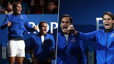 When Tennis Greats Roger Federer and Rafael Nadal Turned Fans and Watched a Live Tennis Match (Watch Video)