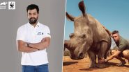 Rohit Sharma and Kevin Pietersen Bat for Rhinoceros Conservation on World Rhino Day 2019 (See Instagram Posts)