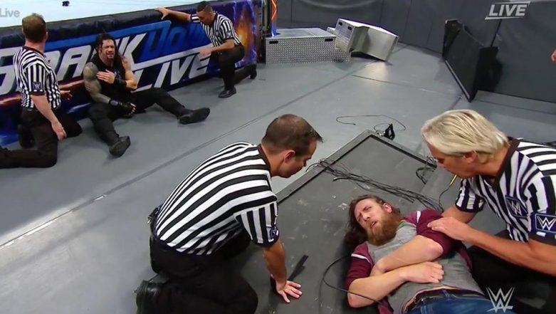 WWE SmackDown Sept 3, 2019 Results and Highlights: Roman Reigns & Daniel Bryan Attacked by Erick Rowans, Elias & Chad Gable Qualifies for the Semi-Final of King of The Ring (View Pics & Videos)