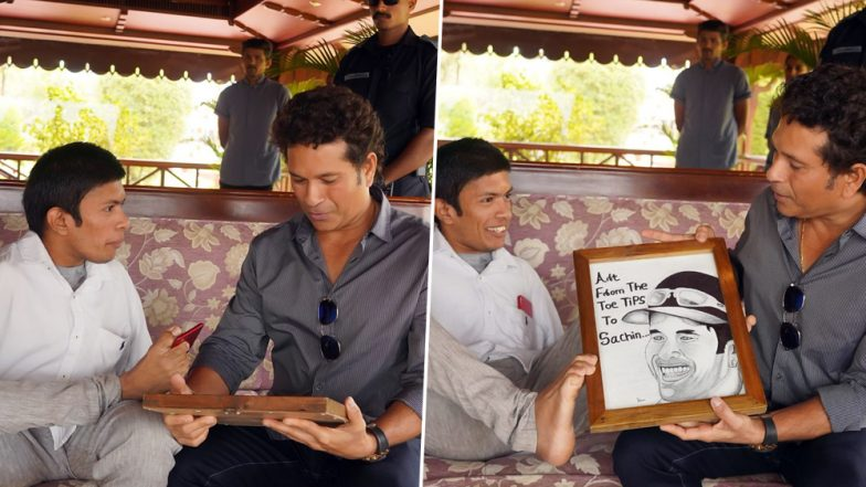Onam 2019: Sachin Tendulkar Wishes Everyone on Auspicious Festival With Motivating Post on Twitter, Shares Photo With Special Sketch Artist From Kerala