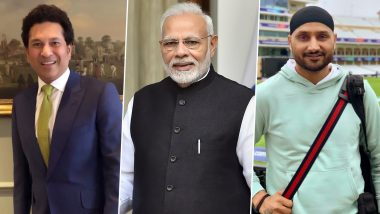 Narendra Modi 69th Birthday: SachinTendulkar, Harbhajan Singh and Other Members of Sports Fraternity Wish the Indian Prime Minister