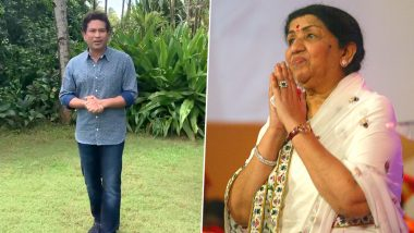Sachin Tendulkar Wishes Lata Mangeshkar on Her 90th Birthday, Posts a Heart-Warming Video on Twitter for the Legendary Indian Singer