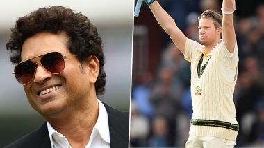 Sachin Tendulkar Lauds Steve Smith for His Double Century Against England During Ashes 2019 4th Test (Read Tweet)