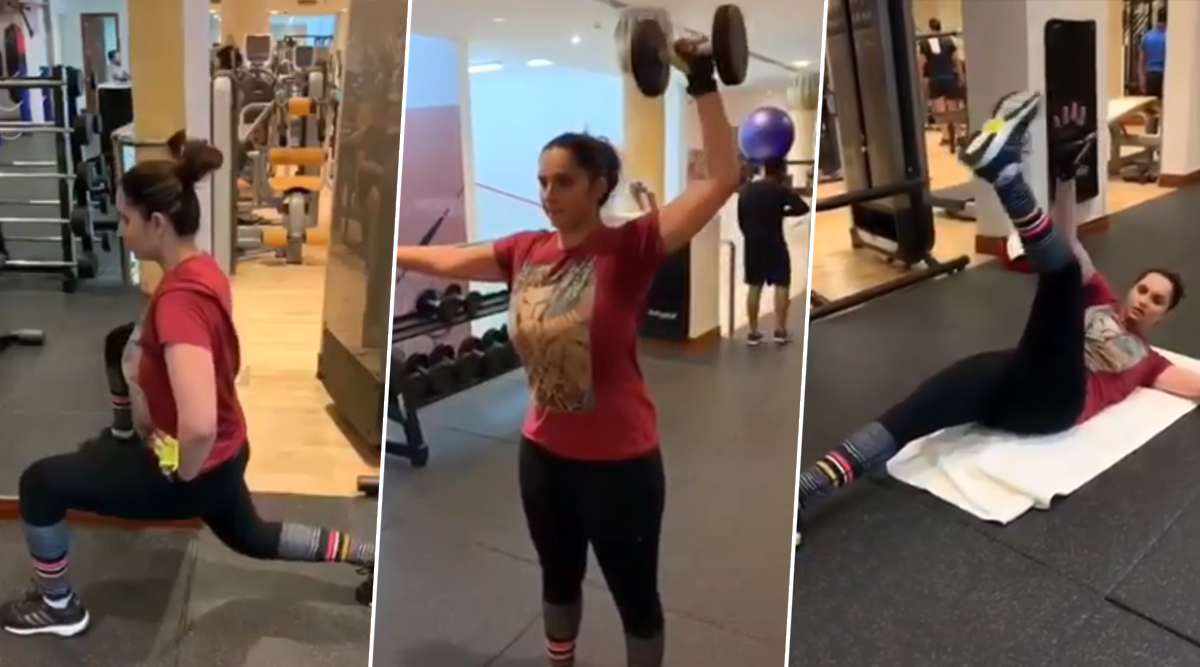 Sania Mirza Workout and Diet: How the Indian Tennis Star Lost 26kg in Four Months After Her Pregnancy (Watch Videos)
