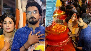 Hina Khan and Beau Rocky Jaiswal Visit Lalbaugcha Raja Pandal to Seek Bappa's Blessings – View Pics