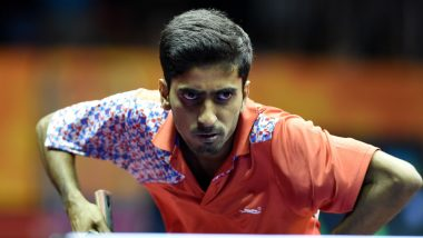 Sathiyan Gnanasekaran Second Indian to Enter Asian Table Tennis Championships 2019 Singles Quarter-Finals