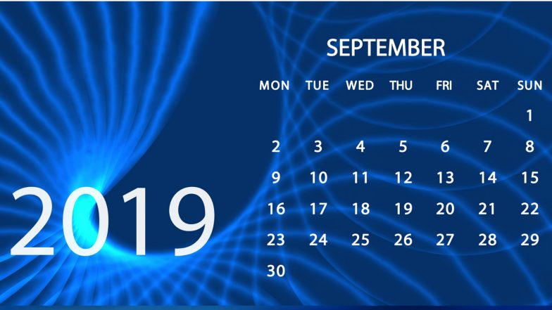 September 2019 Festivals, Events and Holiday Calendar: Ganesh Chaturthi, Teachers' Day, Sharad Navratri; Know All Important Dates and List of Fasts for the Month