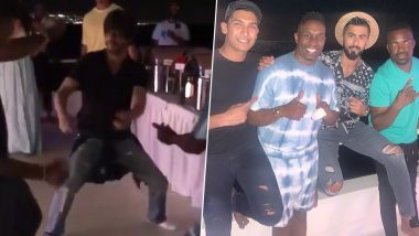 Shah Rukh Khan and Dwayne Bravo Shake Leg on 'Lungi Dance' Song Amid Ongoing CPL 2019, Watch Instagram Videos of Their Boat Party