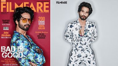 Shahid Kapoor's Impeccable Style and Charming Demeanour Are on Display in His Latest Filmfare Photoshoot (View Pics)