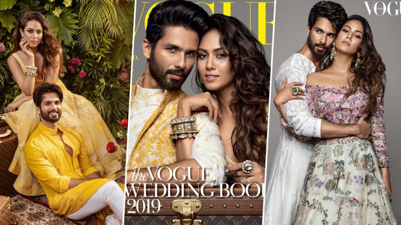 Shahid Kapoor and Mira Rajput Look Regal on Floral Themed Cover of Vogue India's Wedding Book 2019 Edition (View Pics)