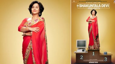 Shakuntala Devi: Human Computer - Vidya Balan Continues Her Tryst with Red Saree on the First Look of the Biopic