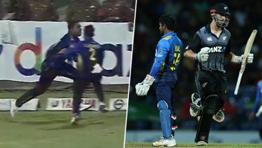 Sri Lanka vs New Zealand 2nd T20I: Shehan Jayasuriya and Kusal Mendis Suffer Tragic Collision on Field While Trying to Catch Mitchell Santner's Shot