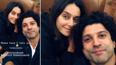 Farhan Akhtar Calls GF Shibani Dandekar His 'Fan' as he Heads For 'The Sky Is Pink' Premiere at TIFF 2019 (View Pic)