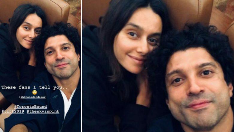 Farhan Akhtar Calls GF Shibani Dandekar His 'Fan' as he Heads For 'The Sky Is Pink' Premiere at TIFF 2019 (View Pic)