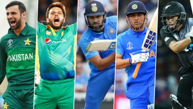 Most T20Is Appearances: Rohit Sharma Equals MS Dhoni, Shoaib Malik Leads The List of Cricketers Who Have Played Most Twenty20 International Matches