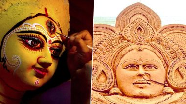 Shubho Mahalaya 2019 Wishes Take Over Twitter! Sudarsan Pattnaik's Sand Art to Politicians Exchanging Mahalaya Greetings, Netizens Share Images & Messages on The Festival Day