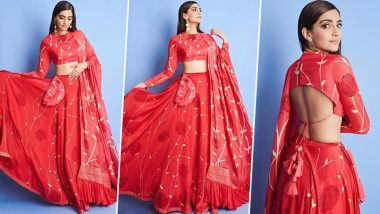 Yo or Hell No! Sonam Kapoor in a Traditional Red Lehenga for The Zoya Factor Promotions