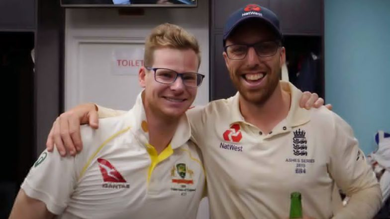 Ashes 2019: Steve Smith and Jack Leach Pose Together; England Cricket Hits a Monstrous Six in Its Latest Banter Involving Both Cricketers (See Post)