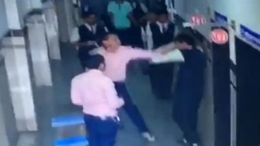 Surat: Furious Parents Thrash School Teacher for Assaulting Class 12 Student; Watch Video