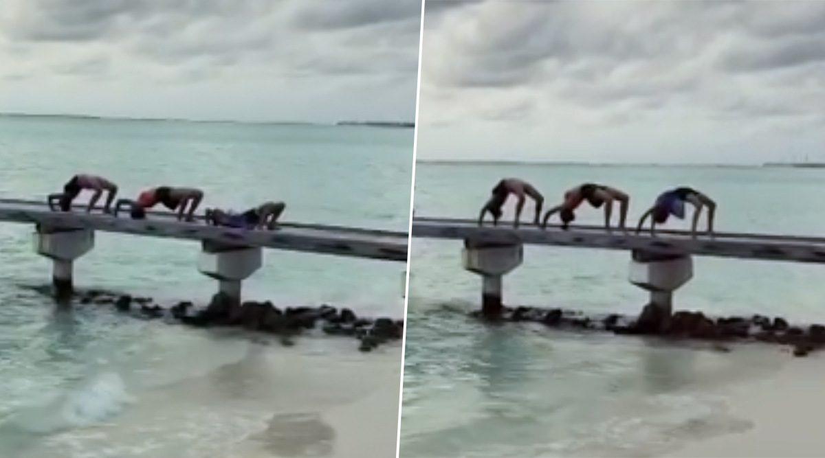 Sushmita Sen and Daughters Show Their Flexi Side in Paradise, Video Inside