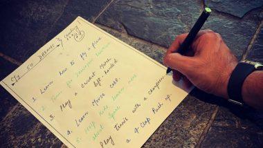 Sushant Singh Rajput Shares His List of Dreams