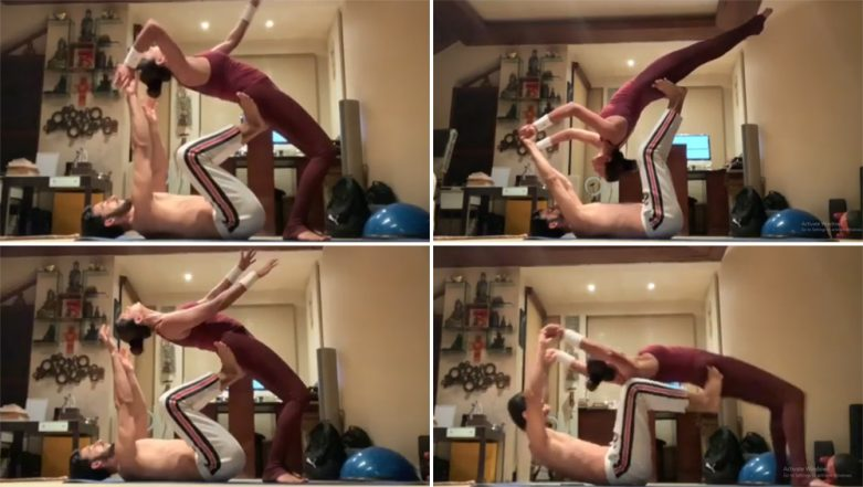 Sushmita Sen 'Bends Backwards' For Boyfriend Rohman Shawl, Literally! Watch Their Beautiful Work-Out Video
