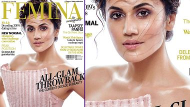 Taapsee Pannu Looks Beautiful in Pink on the Cover of Femina Magazine's September Edition (View Pic)