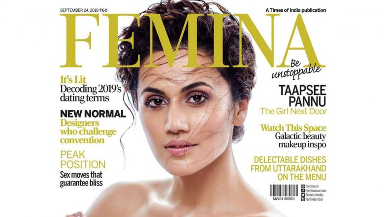 Taapsee Pannu Channels Greek Goddess Look as Femina Cover Girl For September Issue