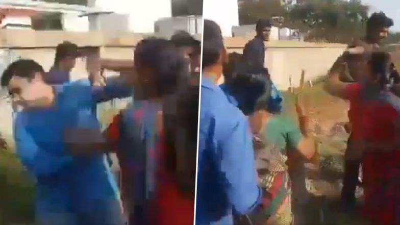 Tamil Nadu: Man Thrashed by His Two Wives in Public After He Attempts to Marry Third Time in Coimbatore (Watch Video)